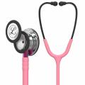 Littmann Classic III Stethoscoop 5962 spiegelend borststuk, parelroze slang, roze steel en rookkleurige headset, 69 cm
