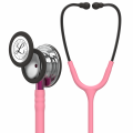 Littmann Classic III Stethoscoop 5962 Mirror Chestpiece, Pearl Pink Tube, Pink Stem and Smoke Headset, 27 inch, 5962