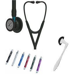Littmann Cardiology IV Studentenbox 6201 All Black Blauwe Steel