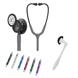 Littmann Classic III Studentbox 5873 Grijs Smoke, Stem Paars