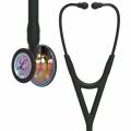 Littmann Cardiology IV stetoskop, regnbuefarvet bryststykke i højglans, sort slange, røgfarvet stamme og røgfarvet headset, 67,5 cm, 6240