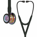 Littmann Cardiology IV Stethoscope High Polish Rainbow-Finish Chestpiece, Black Tube, Smoke Stem and Smoke Headset, 27 inch, 6240