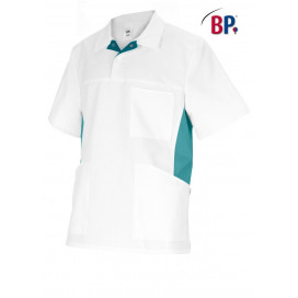 BP Tunic unisex white / petrol