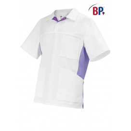 BP Tunic unisex white / lilac