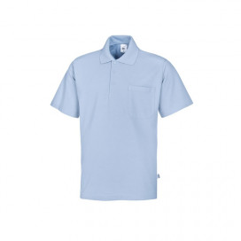 BP unisex polo shirt light blue
