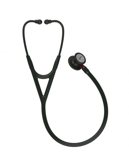 Littmann Cardiology IV Stethoscope 6200, Black Edition, Black Tube, Red Stem