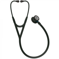 Littmann Cardiology IV Stethoscope 6201, Black Edition, Black Tube, Blue Stem