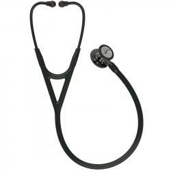 Littmann Cardiology IV Stethoscoop, borststuk rookkleurige afwerking, zwarte slang, champagnekleurige steel, zwarte headset,6204