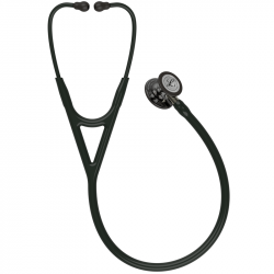 Littmann Cardiology IV Stethoscope 6204, High Polish Smoke Edition, Black Tube, Champagne Stem