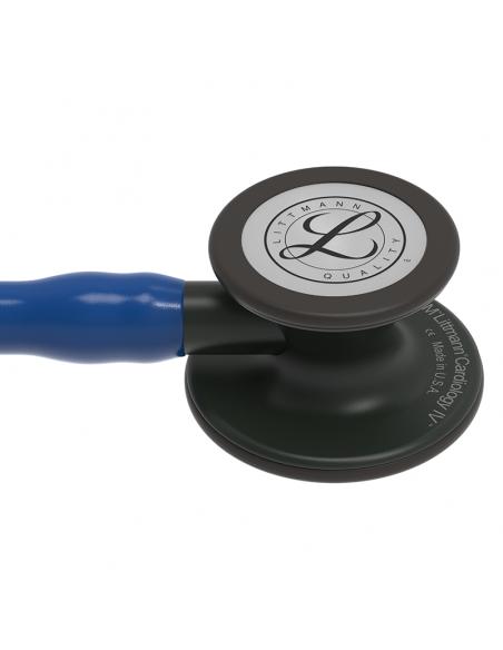 Littmann Cardiology IV Stetoscopio 6168 Testina e finiture nere Tubo Blu navy